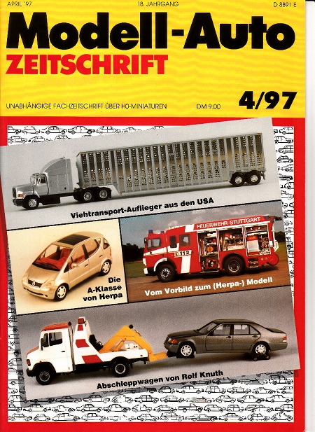 modell auto zeitschrift heft nr 4 1997. Black Bedroom Furniture Sets. Home Design Ideas