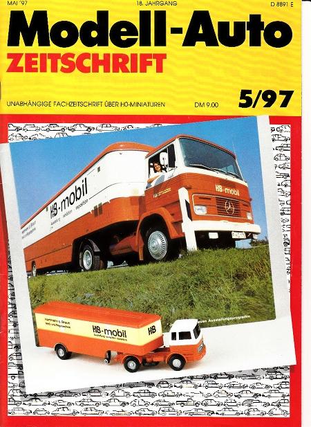 modell auto zeitschrift heft nr 5 1997. Black Bedroom Furniture Sets. Home Design Ideas