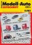 Modell-Auto Zeitschrift Heft Nr. 11/2002