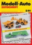 Modell-Auto Zeitschrift Heft Nr. 5/2001