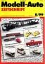 Modell-Auto Zeitschrift Heft Nr. 8/1999