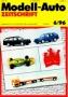 Modell-Auto Zeitschrift Heft Nr. 6/1996